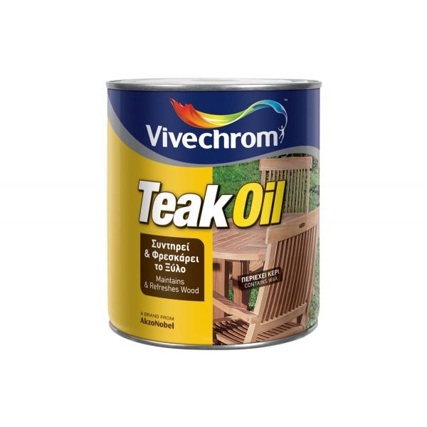TEAK OIL VIVECHROM ΑΦΟΙ ΚΑΛΑΜΠΟΓΙΑ Ο.Ε